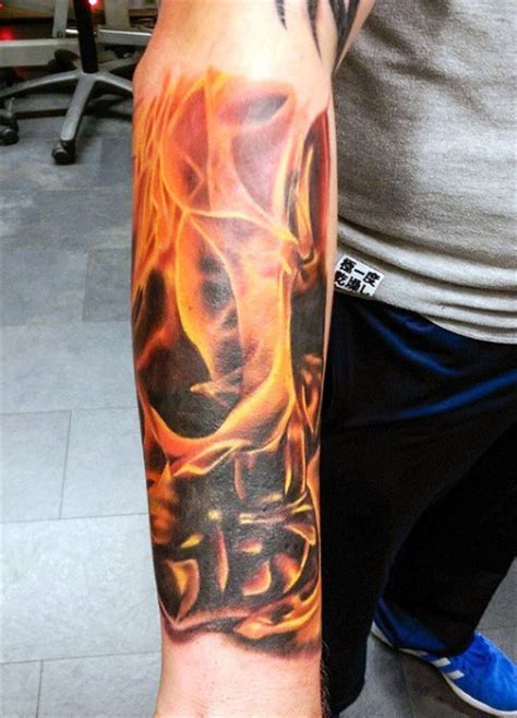 top 60 best flame tattoos for men inferno of designs