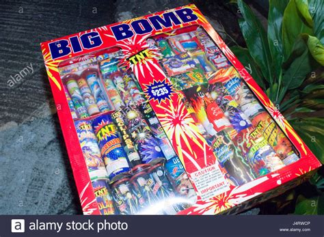 big box new year big box of many fireworks waiting to be set at a new