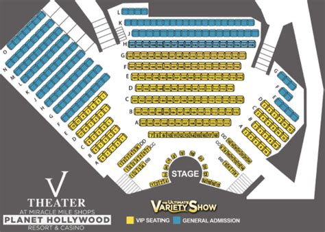 v theater seating chart las vegas shows v the ultimate variety show las vegas