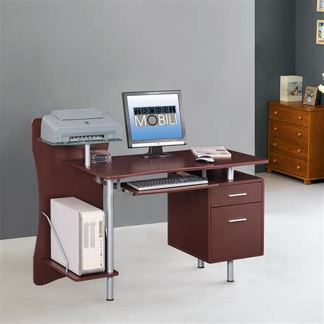 rta products techni mobili l shaped computer desk techni mobili l shaped glass computer desk gray walmart com
