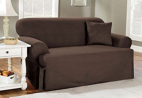 Sure Fit Slipcovers Basic Cotton One Piece T Cushion Clearance Sofa Slipcovers