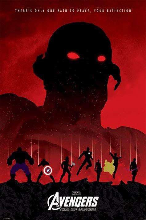 the avengers age of ultron extinction poster sold at