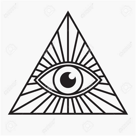 eyeball tattoo stencil all seeing eye symbol vector illustration tattoo