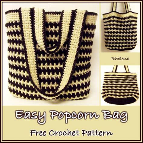 crochet patterns bags easy easy popcorn bag free crochet pattern free crochet