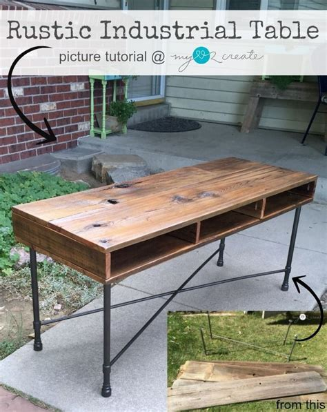 your own rustic table learn to your own beautiful rustic industrial table