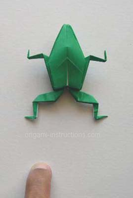 How To Make A Paper Frog That Hops - physics origami frog
