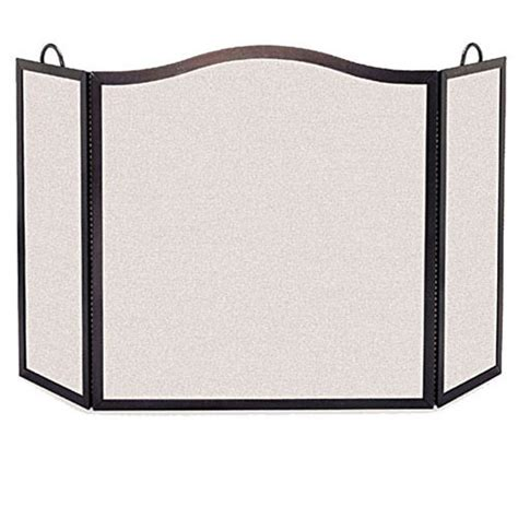 Pilgrim Fireplace Screen by Pilgrim Small 3 Panel Matte Black Camelback Arch Fireplace