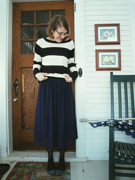 liz r joe fresh striped sweater forever 21 midi skirt