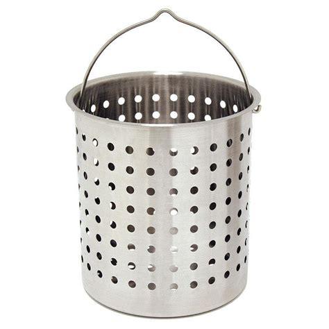 Baju Basket 1 Stel bayou classic 36 stainless steel stock pot basket bayou classic depot