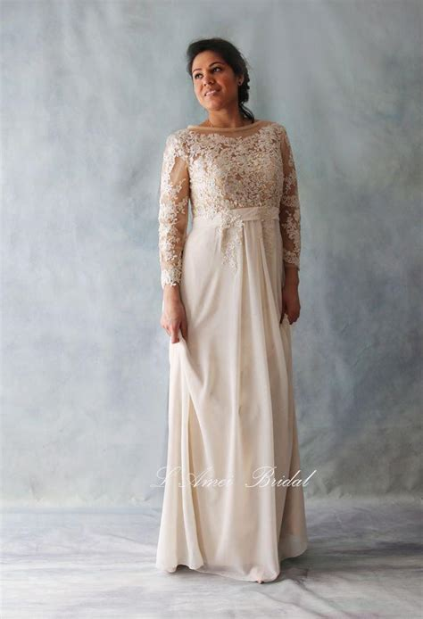 Affordable Wedding Dresses With Sleeves by Affordable Fitted Sleeve Light Golden Lace