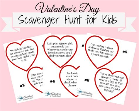 valentines riddles for s day scavenger hunt with printable clues a