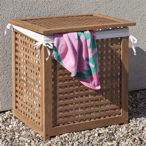 outdoor teak outdoor towel hamper outdoor deck