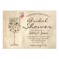 wine cheese bridal shower invitation 5 quot x 7 quot invitation