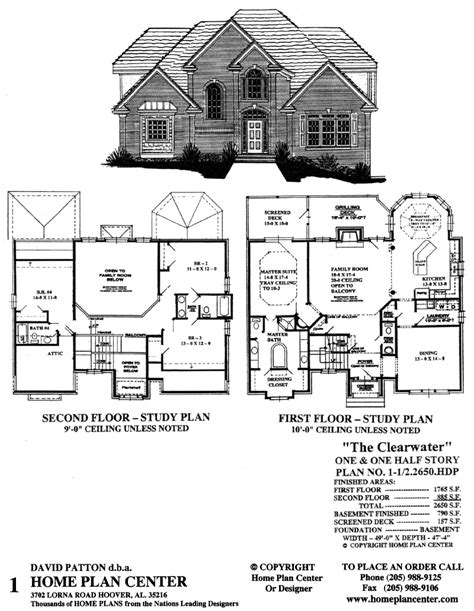 story and half house plans home plan center 1 1 2 2650 clearwater