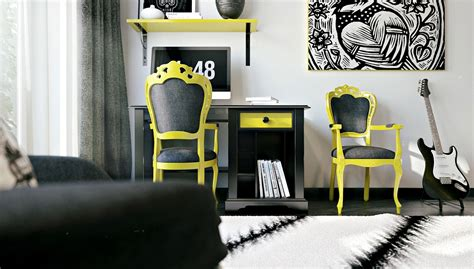 yellow interior funky rooms that creative teens would love