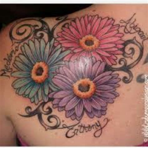 gerber daisy tattoo pretty things pinterest