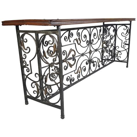 wrought iron sofa table wrought iron and brass bronze console table for sale at 1stdibs