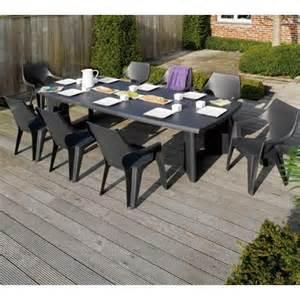 table de jardin allibert new york rectangulaire r 233 sine