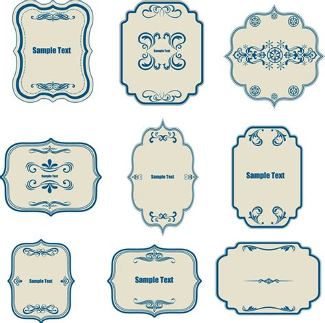 border templates for adobe illustrator classical border templates collection free vector in adobe