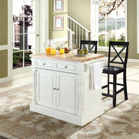 crosley furniture butcher block top kitchen island