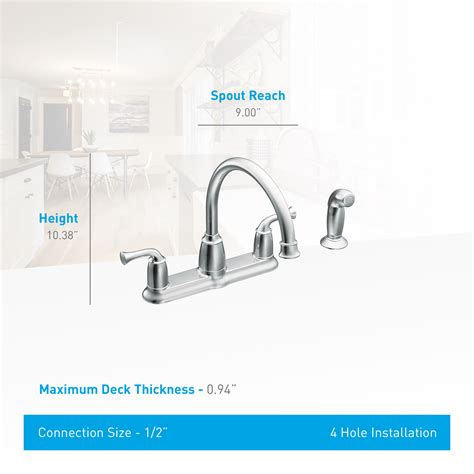 moen 87553 banbury high arc kitchen sink faucet with side faucet com ca87553 in chrome by moen