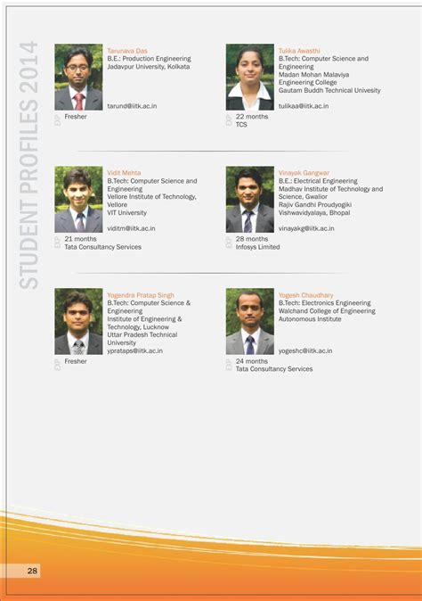 Jadavpur Mba Placements by Issuu 001 Iit Kanpur Placement Brochure 2012 By Element94