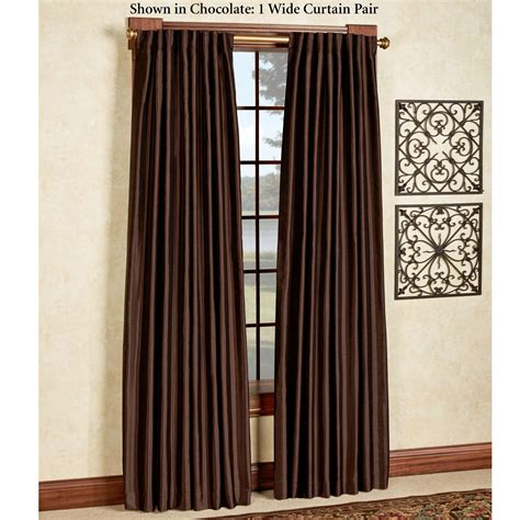wide draperies ming faux silk back tab wide curtains