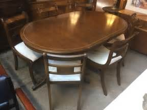 antique style dining table with 6 chairs 163 75 00
