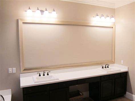 how to hang a bathroom mirror with a frame custom hanging mirrors that make your bathroom pop the