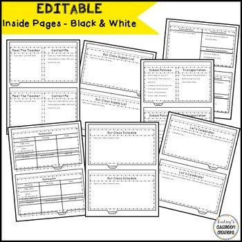 Editable Back To School Flip Book Meet The Teacher Template Tpt Flip Book Templates For Teachers