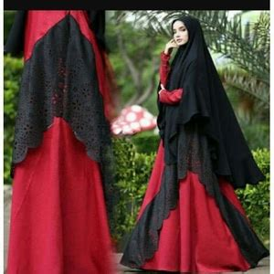 Baju Muslim Setelan Cadar Gamis Syari Polos Cantik Azah Berkualitas 1 setelan busana muslim gamis syari polos modern model terbaru