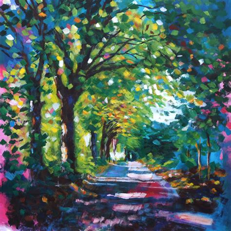 acrylic painting using path at saltaire a r t
