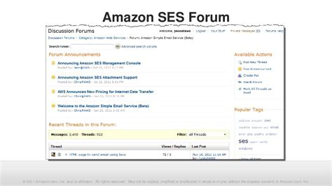 Amazon Ses | webinar amazon ses management console