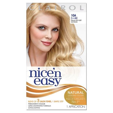 ultra light blonde hair color pictures nice n easy permanent ultra light ash blonde 10a hair dye