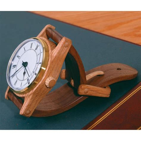 wall clock plans woodworking wall hung wristwatch woodworking plan from wood magazine