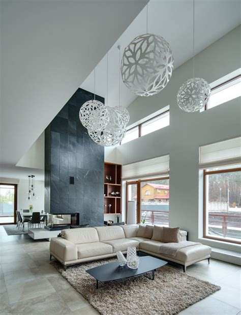 Design House Kimball Lighting by A Light And Spacious Residence With A Warm Interior In