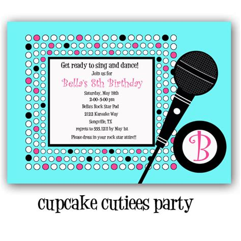 printable karaoke invitations modal title
