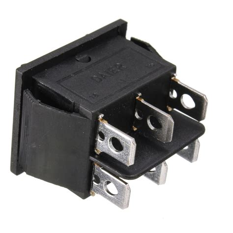 12 volt 6 pin dpdt power window momentary rocker switch ac