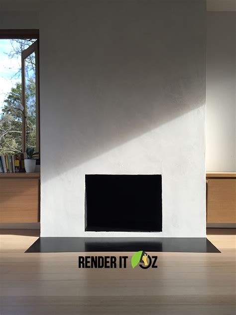 Fireplace Render by Warm And Cosy Concrete Look Fireplace Render Render It Oz