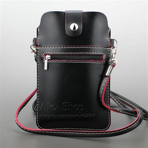 Original Samsung Universal Leather Pouch For Iphone 55s5se Etc universel pour t 233 l 233 phone portable sac bandouli 232 re avec
