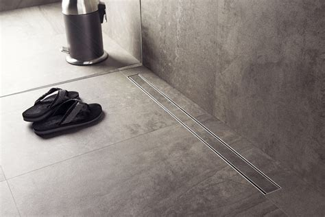 bathroom water drain bathroom design idea include a linear shower drain