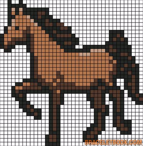 Horse perler bead pattern   Minecraft Pixel Art Templates