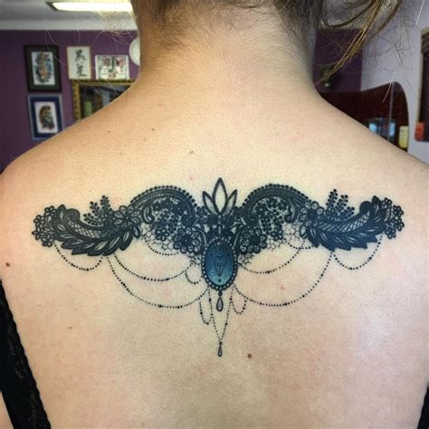 lace back tattoo 60 best lace designs meanings and stunning