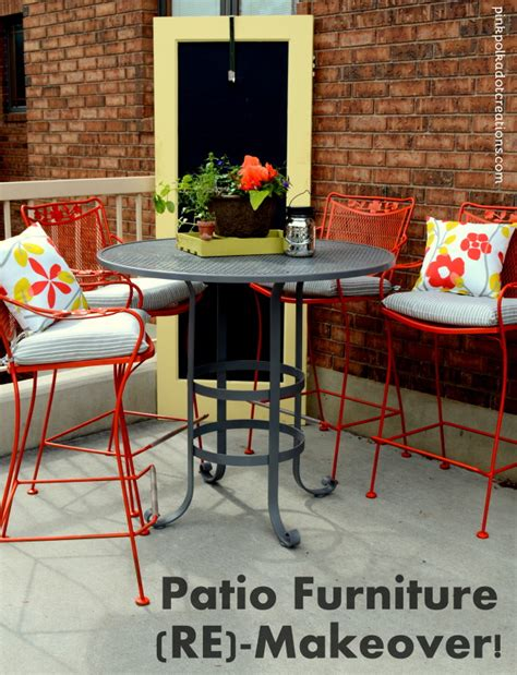 Patio Furniture Makeover by Patio Furniture Re Makeover Pink Polka Dot Creations