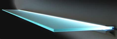 Led Light Shelf by Estuff Glass Wood Shelves Floating Light