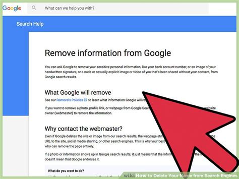 How To Remove Information From Search How To Delete Your Name From Search Engines With Pictures