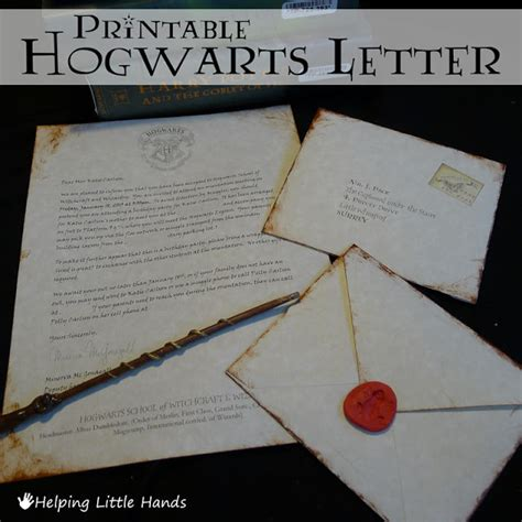 Acceptance Letter For Birthday Pieces By Polly Printable Hogwarts Acceptance Letters Or Harry Potter Invitiations