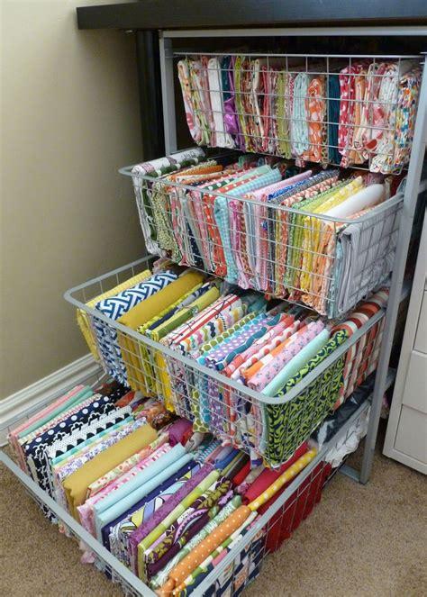 fabric crafts storage craft room inspiration artesanato atelier perfeito