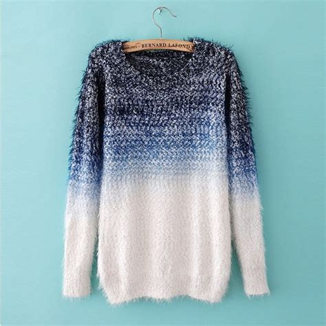 Sweater Cool cool womens sweaters jumpers feather yarn wool ombre fashion sweater on luulla