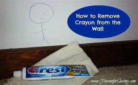 Remove Crayon From by How To Remove Crayon From The Wall For Savings